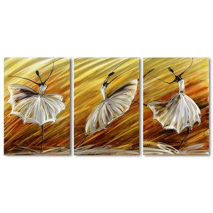 Malerei Aluminium Triptychon Ballerina 60x120cm