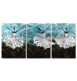 Painting aluminum triptych Ballerina blank 60x120cm