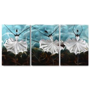 Malerei Aluminium Triptychon Ballerina Rohling 60x120cm
