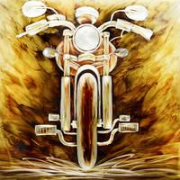Painting aluminum Motor front 100x100cm