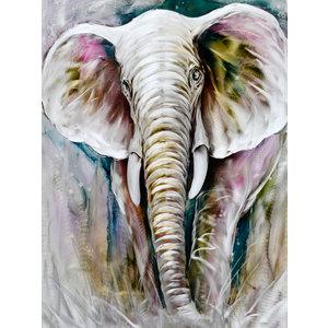 Aluminum painting Elephant 120x160cm
