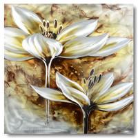 Malerei Aluminium Anemone 80x80cm