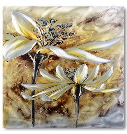 Painting aluminum Ripe flower 80x80cm