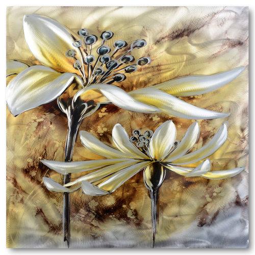 Schilderij aluminium  Rijpe bloem 80x80cm