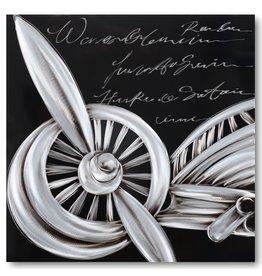 Schilderij aluminium  Plane-1   80x80cm