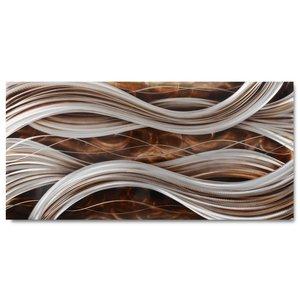 Malerei Aluminium Wellen 80x160cm