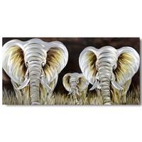 Malerei Aluminium Elefanten 100x240cm