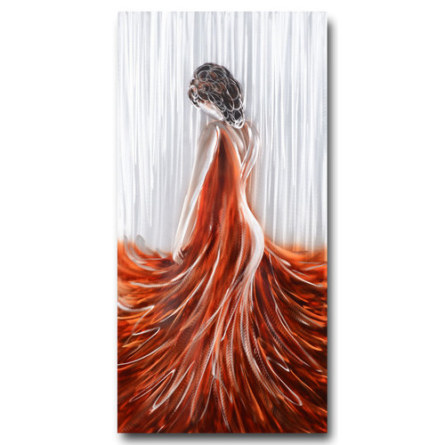 Malerei Aluminium Frau 60x120cm