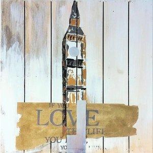 Eliassen Oil on wood painting Tower 60x60cm