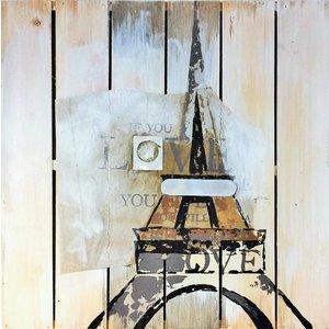 Eliassen Oil on wood painting Eiffel 60x60cm
