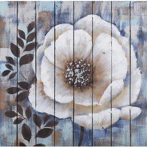 Eliassen Oil on wood painting Flowers 3 80x80cm