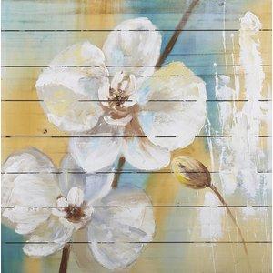 Eliassen Oil on wood painting Flowers 5 80x80cm