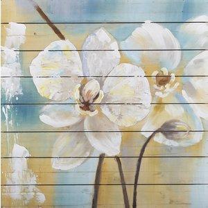 Eliassen Oil on wood painting Flowers 6 80x80cm