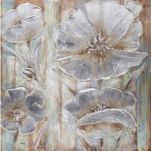 Eliassen Öl auf Holzmalerei Blumen 7 100x100cm