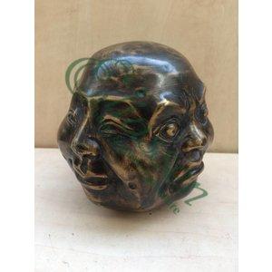 Eliassen Bronze sculpture 4 Faces