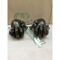 Bronze-Skulptur Set Hände