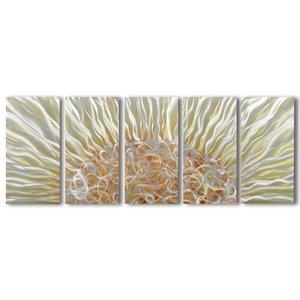 Bemalung von Aluminium mit fünf Panels 60x150cm