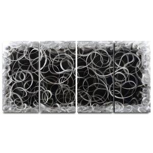 Schilderij aluminium  vierluik Krullen  80x160cm