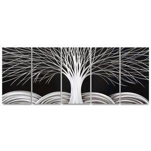 Painting aluminum five-panel tree 60x150cm