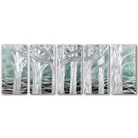 Bemalung Aluminium fünfgetäfelten Bäumen 60x150cm