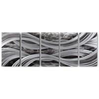 Bemalung von Aluminium-Wellen mit fünf Platten 60x150cm