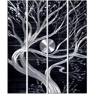 Malerei Aluminium-Vier-Panel-Baum 120x150cm