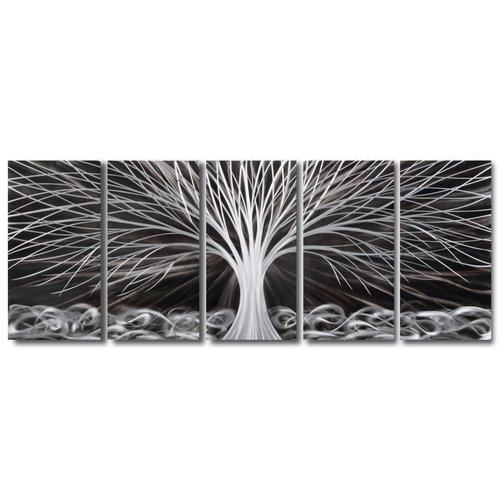 5-Panel Fantasiebaum aus Aluminium 60x150cm