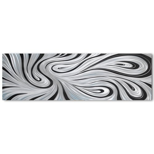 Malerei Aluminium Kontrast 80x240cm