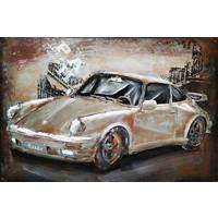 Metallmalerei Porsche2 60x40cm