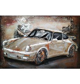Eliassen Metaal schilderij Porsche2 60x40cm