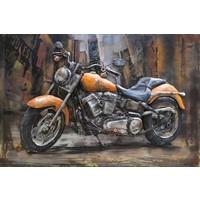 Metalen 3d schilderij Harley 3 120x80cm