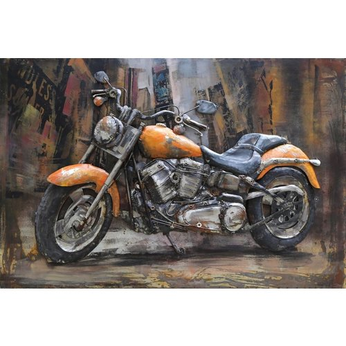 Eliassen Metal 3D Gemälde Harley 3 120x80cm