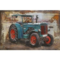 Metall 3d Malerei Hanomag 120x80cm