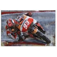 Metalen 3d schilderij MotoGP 120x80cm