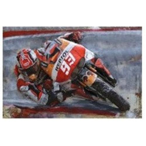 Eliassen Metal 3d painting MotoGP 120x80cm