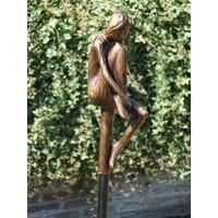 Bronzen tuinsteker Meisje klein B