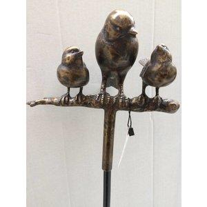 Eliassen Garden plug with blackbird and 2 sparrows