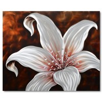 Malerei Aluminium Lilie 80x80cm