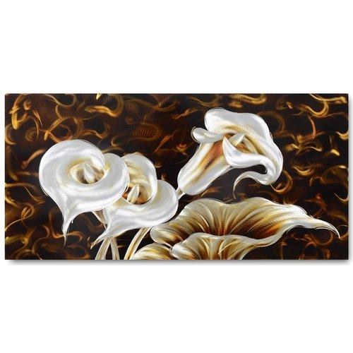 Malerei Aluminium Arums 60x120cm