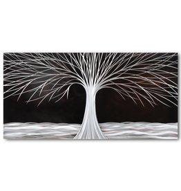Schilderij aluminium  Boom in de nacht  80x160cm