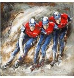 Eliassen Metall 3D-Malerei Marathon Skater 100x100cm