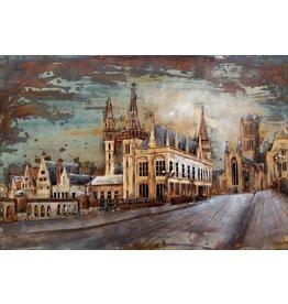 Eliassen Metalen 3d schilderij Gent 120x80cm