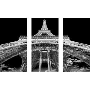 Eliassen 3 parts glass painting 120x80cm Eiffel Tower