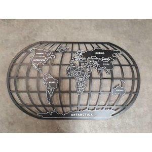 Eliassen Wand decoratie Globe 124x66cm