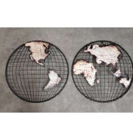 Eliassen Wanddecoratie Globe 2-delig Bol