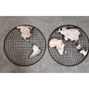 Eliassen Wall decoration Globe 2-piece Globe