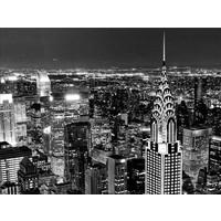 Foto schilderij glitter 114x80cm New York bij nacht