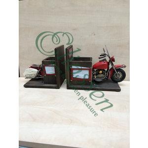 Miniatuur model boeksteunen Motor