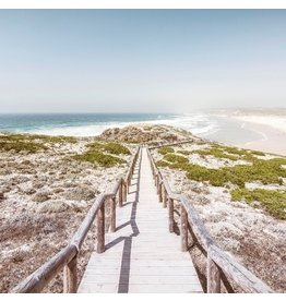 Ter Halle Glass painting beach path 100x100cm