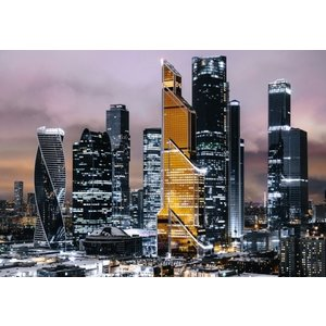 Eliassen Glasmalerei 110x160cm Skyline